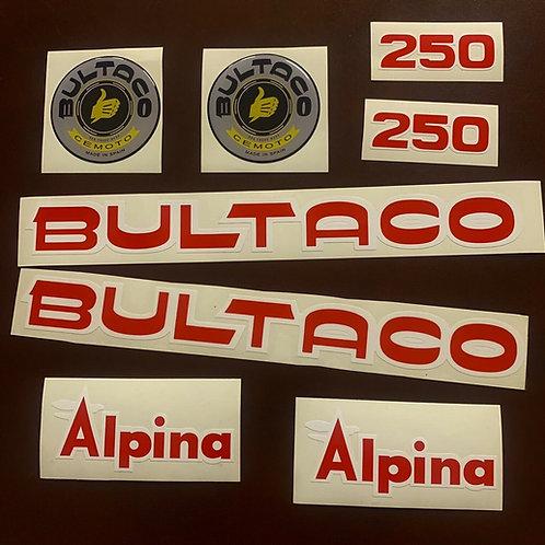adhesivos Bultaco alpina 250