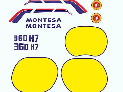 adhesivo lateral de Montesa Enduro 360H7