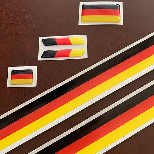adhesivo colores bandera alemania