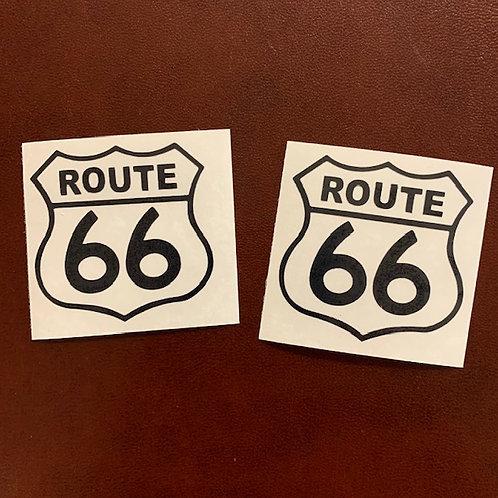 adhesivo vinilo recortado ruta 66