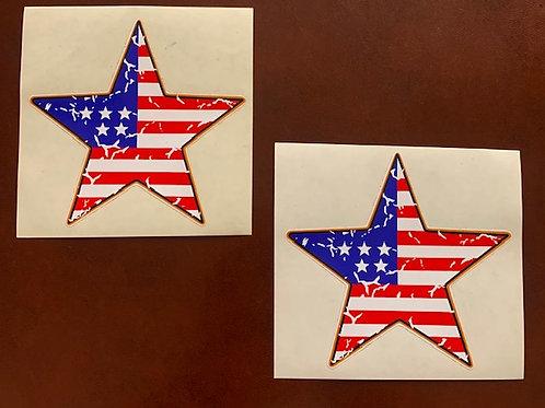 adhesivo estrella USA