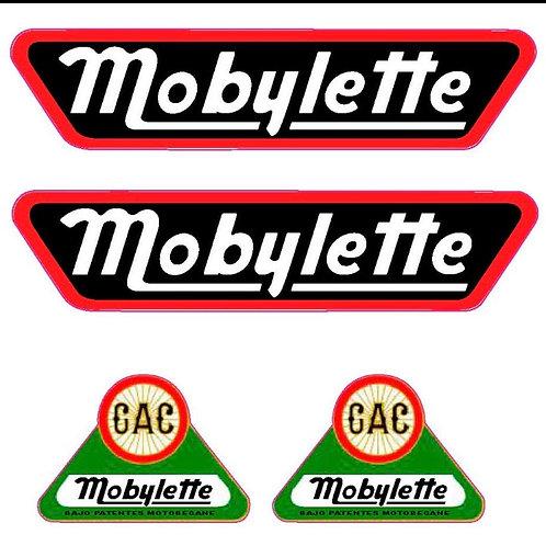 Quatro adhesivos Mobylette para moto
