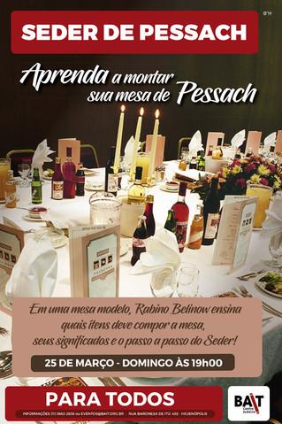 Aprenda a montar a sua mesa de Pessach