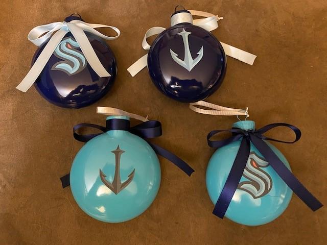 Seattle Kraken Ornaments