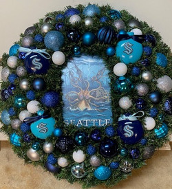Seattle Kraken Wreath