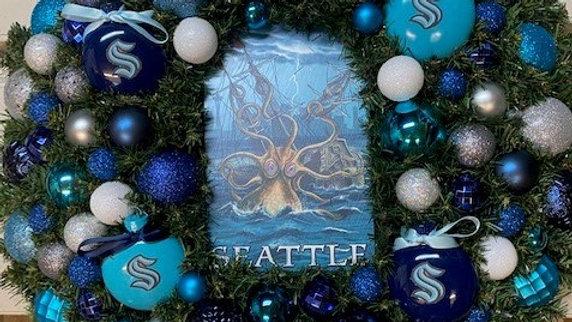 Seattle Kraken Wreath