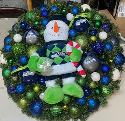 Seahawks Wreath