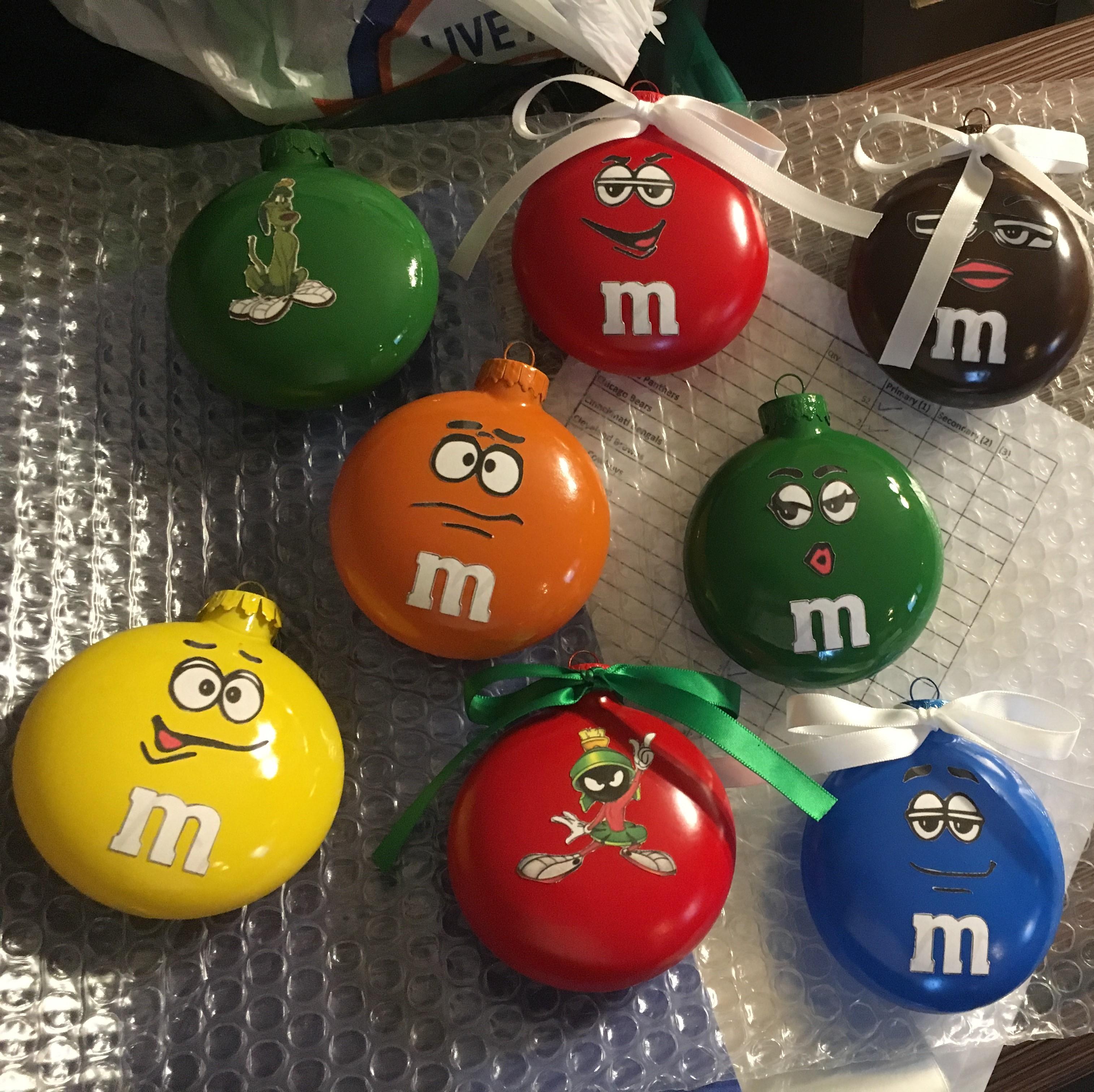 M&M ornaments