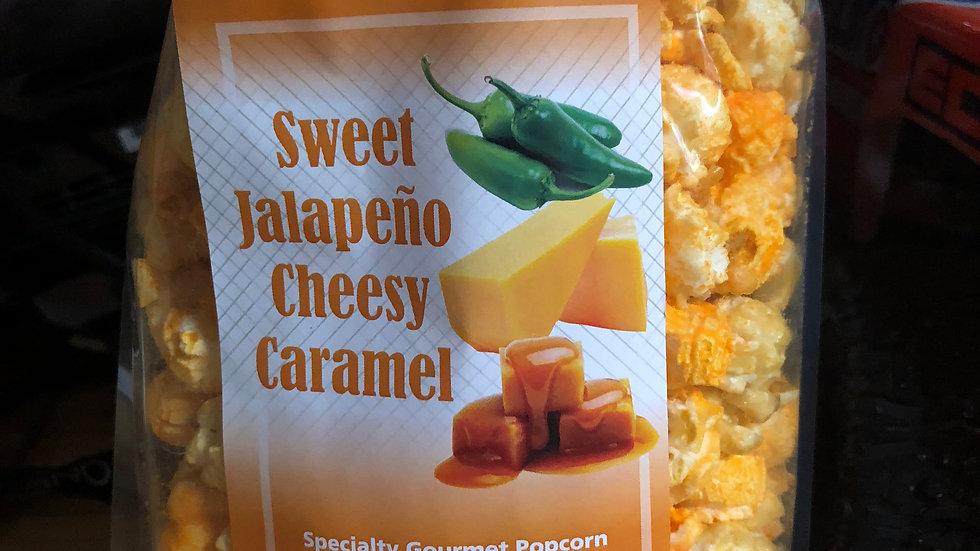 Sweet Jalapeno Cheesy Caramel Popcorn
