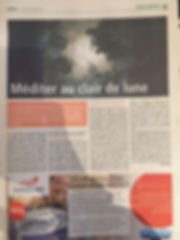 "Journal Metro, 24/01/2019, ""Méditer au clair de lune"""