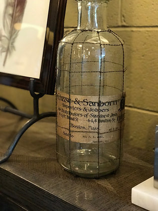 Glass Bottle with Wire