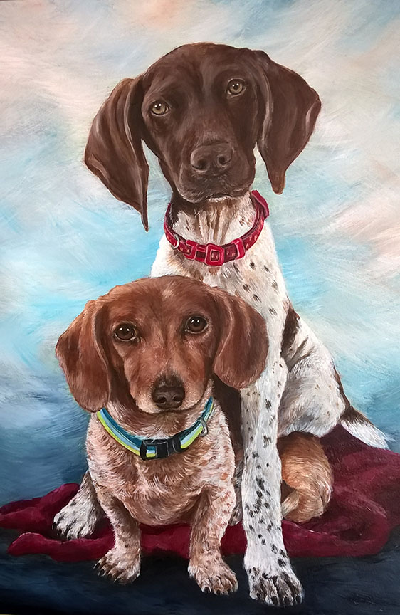 Custom Painted dog pet portrait