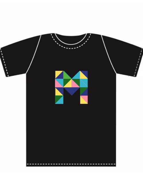 Black Multicolor Tshirt