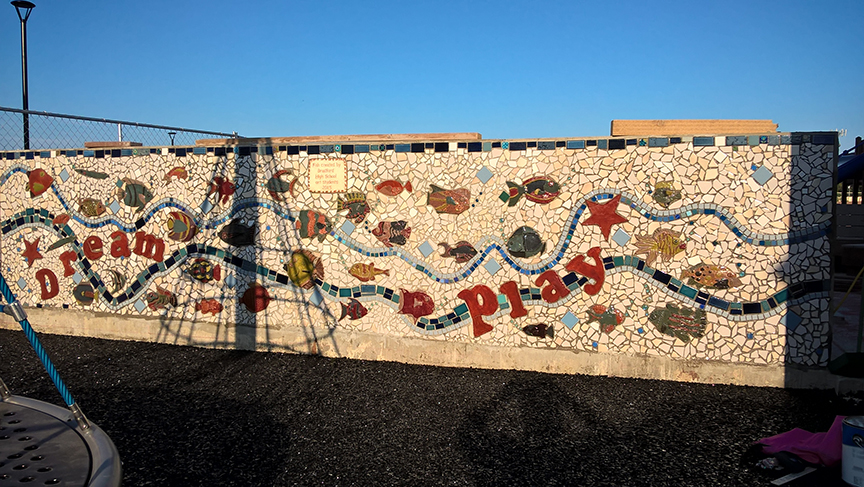 tile  fish mosaic for playground