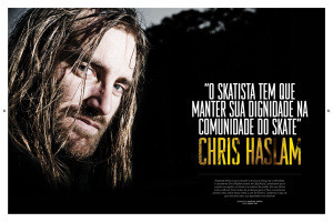 Chris Haslam na CemporcentoSkate