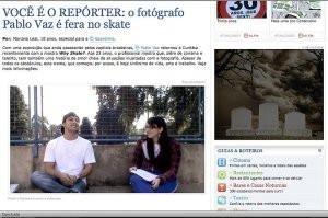 Entrevista no blog da Gazetinha