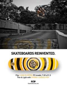 Anúncio Flip Skateboards
