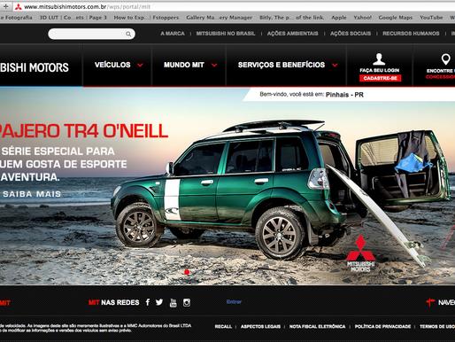 Pajero TR4 O'Neill   Website Mitsubishi