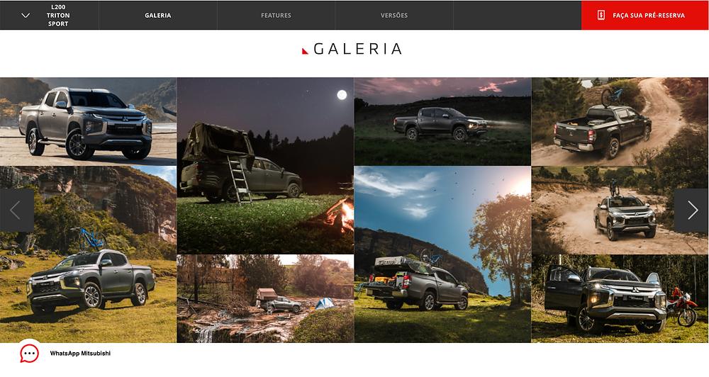 Galeria L200 Triton Sport website Mitsubishi