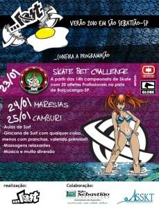 Skate Bet Challenge em Boiçucanga
