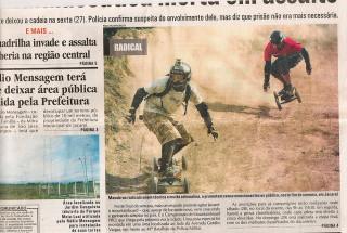 Clipagem: Mountainboard nas mídias de Jacareí/SP