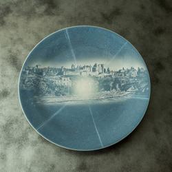 青磁絵皿(壁掛)生命の星シリーズ