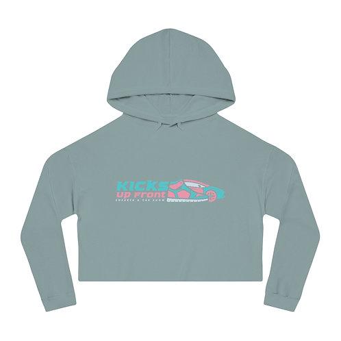 Kicks Up Front Women's Cropped Hooded Sweatshirt