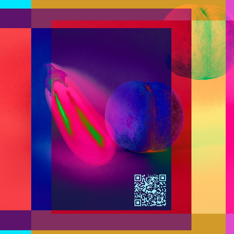 peach & aubergine