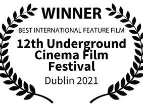 Best International Feature Film win at UCFF in Dublin 2021