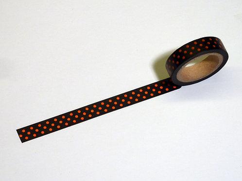 Black w. little orange dots WT-#3181