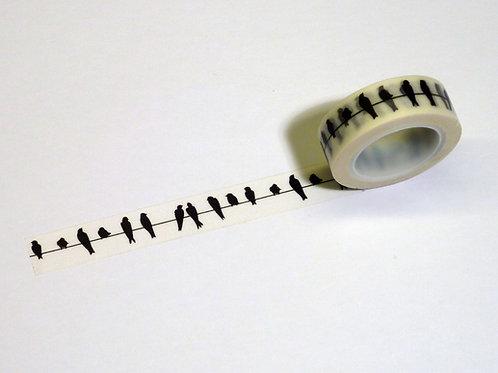 Singvögel schwarz a. Draht WT-#8221