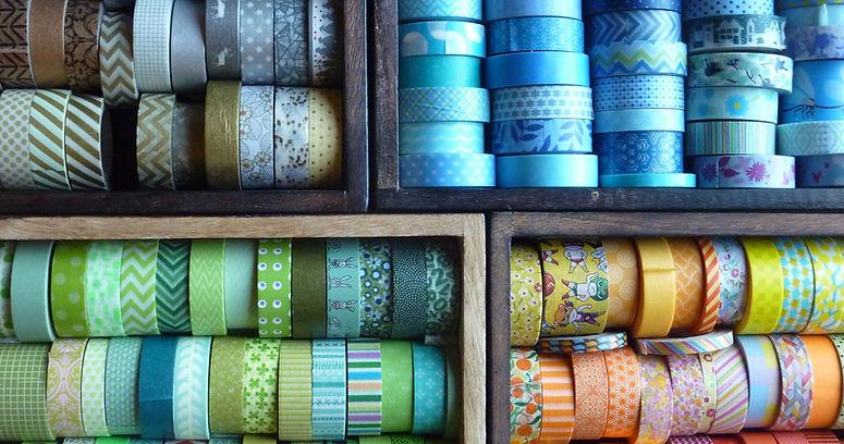 bunte Washi Tapes Masking Tapes