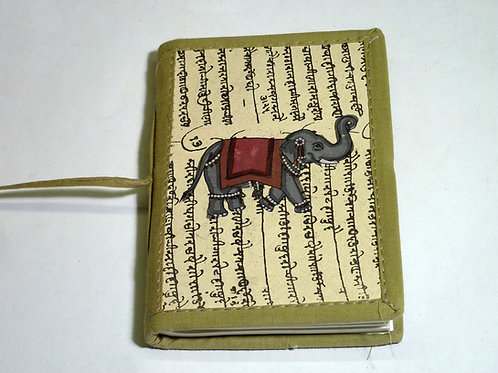 Notizbuch Stoff Elefant mini