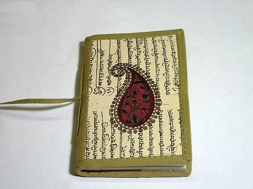 Notizbuch Stoff Paisley mini