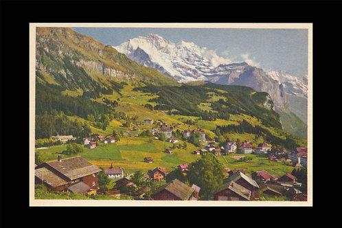 Karte A 6946 Wengen 1'274 m, Jungfrau 4'158 m