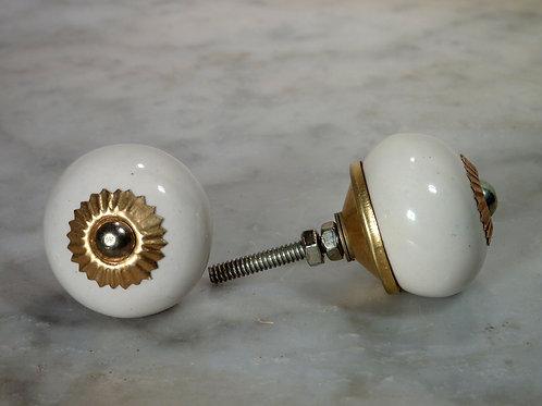 Round Ivory Golden SCRK-02