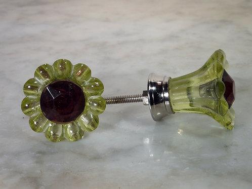 Green Daisy Knob Silver GFKD-03