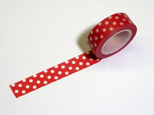 Red with white dots WT-#679