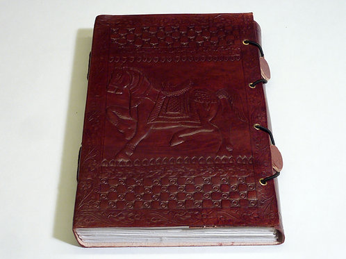 Notizbuch Leder Pferd medium