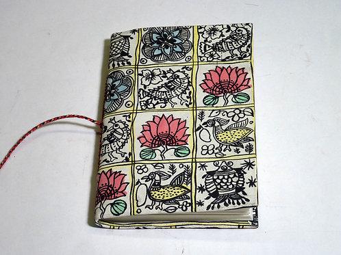 Notizbuch Stoff Flowers mini