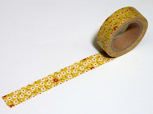 "Blumenband ""Klimt"" senfgelb WT-#8281"