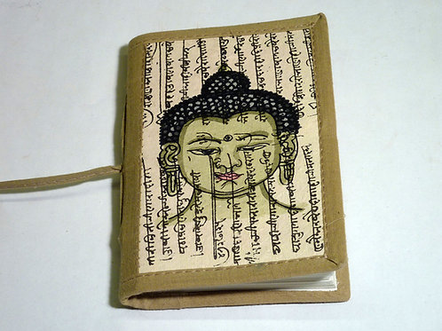 Notizbuch Stoff Buddha mini