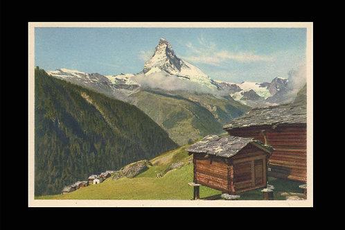 Karte A 15113 Findelen ob. Zermatt, Furgghorn, Matterhorn, Col d'Hérens