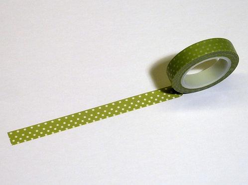 Green w. white dots WT-#3849