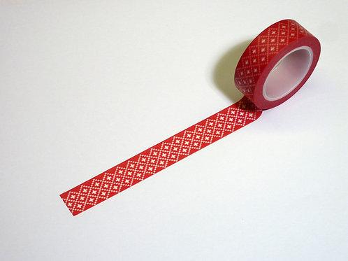Stickmuster Kreuze rot WT-#673