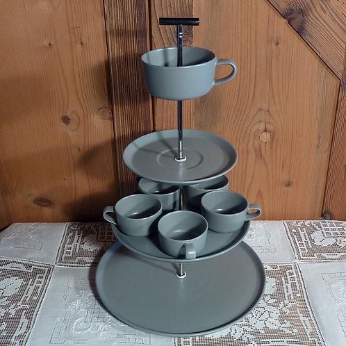 4er m. Tasse grau m. 5 Espressotassen Nr. 26