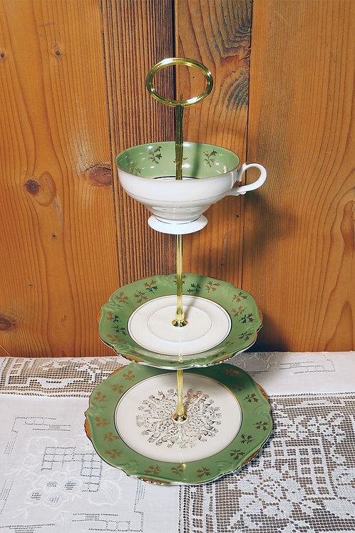 3er m. Tasse grün/gold Nr. 225