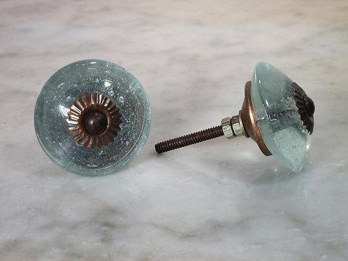 Clear Wheel Knob Antique GWK-20