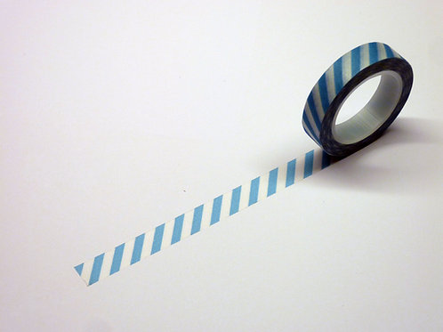 Stripes schräg h'blau WT-#1906