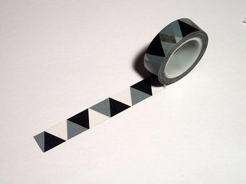 Dreiecke schwarz/weiss/grau WT-#971